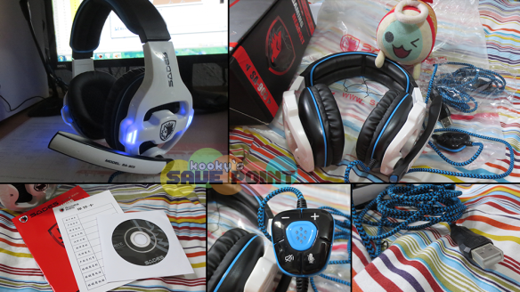 A closer look at the headset and what's included in the box. (Click to enlarge)