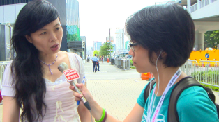 A shot of me as a summer intern for RTHK